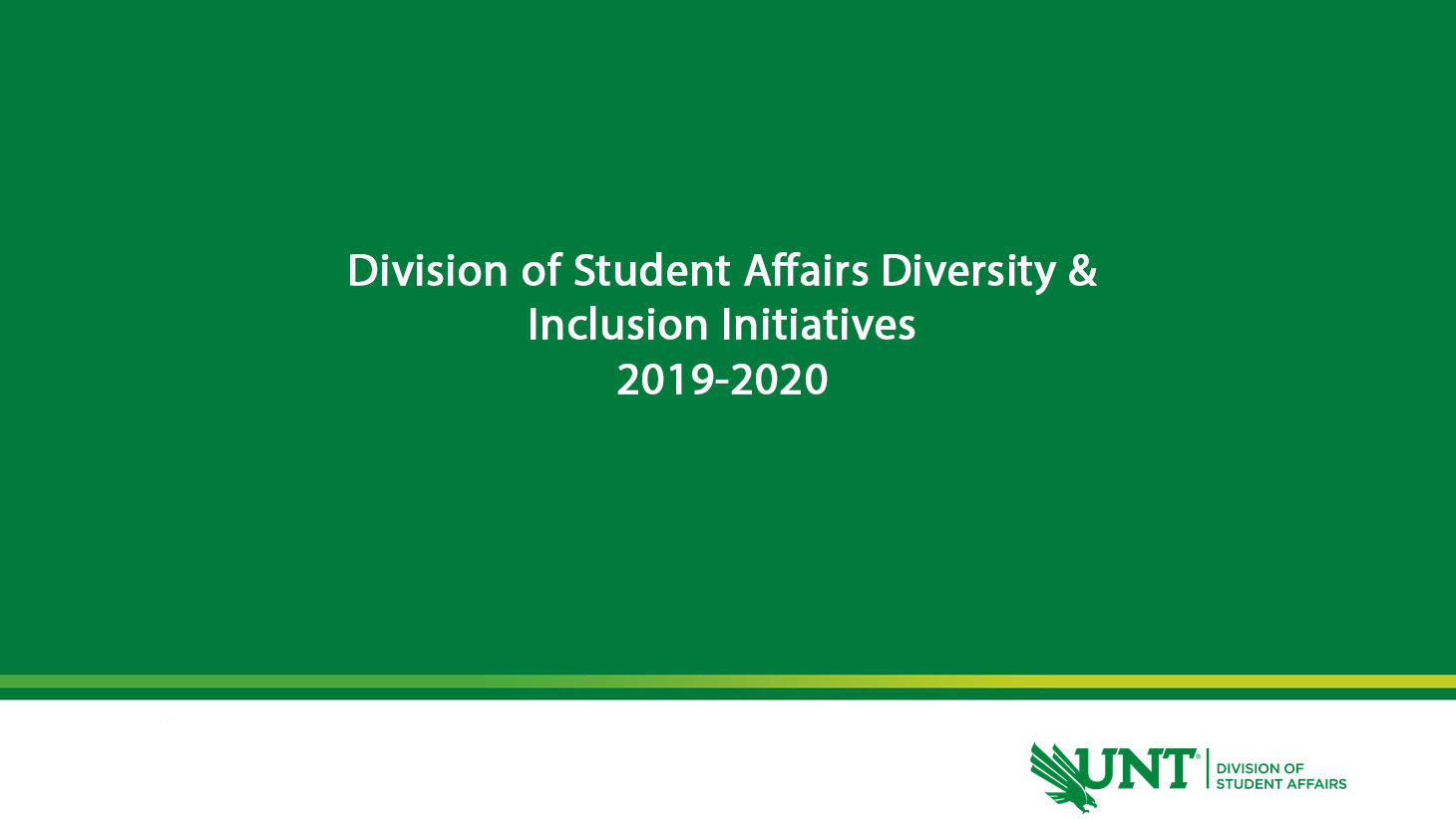 Division of Student Affairs - Diversity and Inclusion Initiatives - 2019-2020