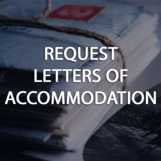 Request Letters Of Accommodation