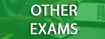 Other Exams title with green overlay over a picture of a student with a laptop