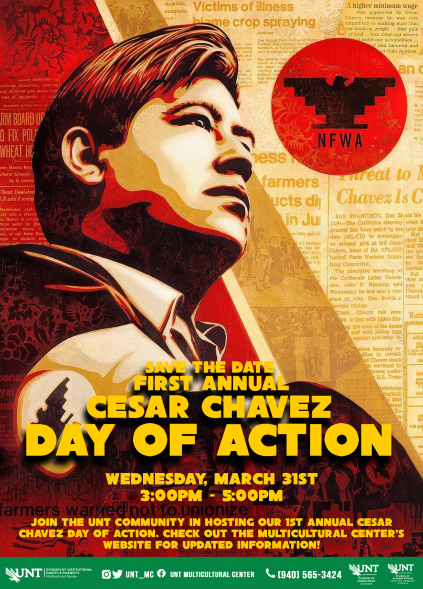 Cesar Chavez flyer with event time of 3-5 PM