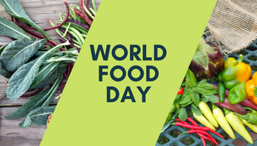 Image of food with the text 'World Food Day'