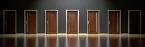 Multiple doors to choose