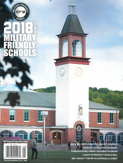 2018 Military Friendly Schools Cover