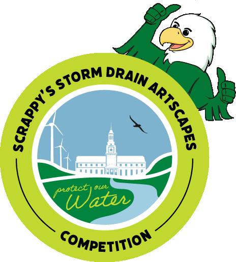Scrappy's Storm Drain Artscape Competition graphic