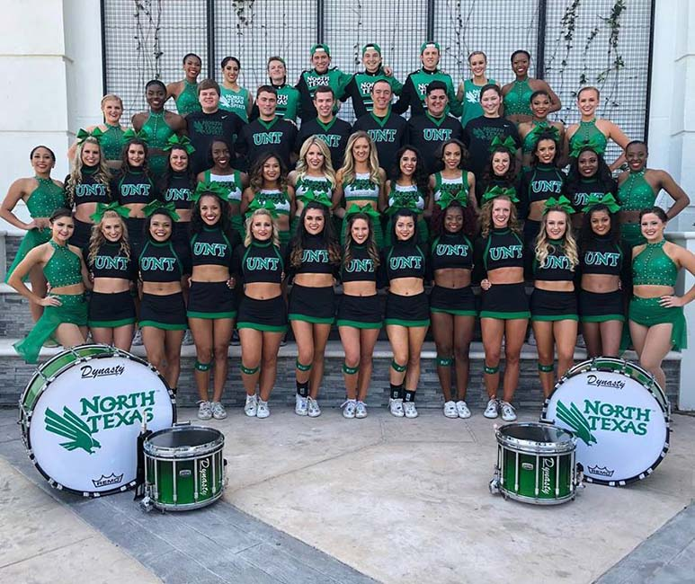 North Texas Cheerleaders and North Texas Dancers