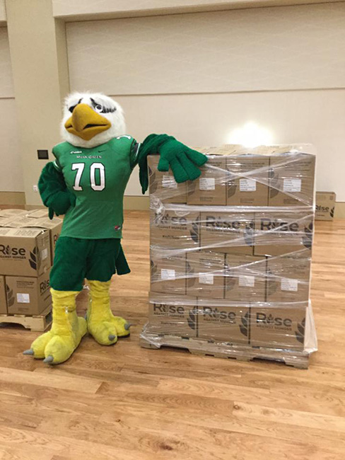 UNT Student Activities Rise Against Hunger