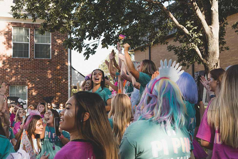 UNT Greek Life Bid Day 2018
