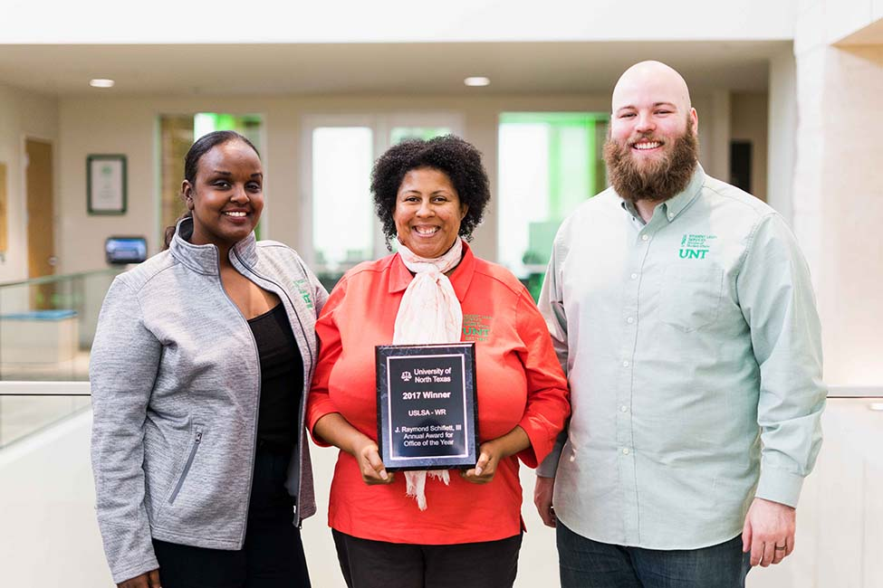 UNT Student Legal Services Office of the Year 2017
