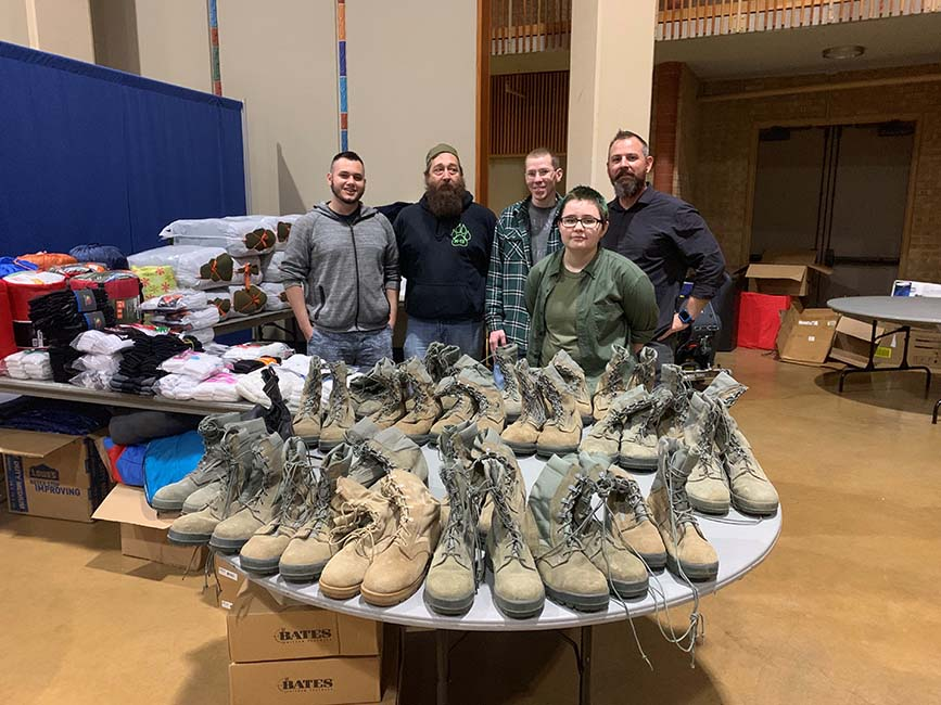 UNT Volunteers for Homeless Veterans Stand Down