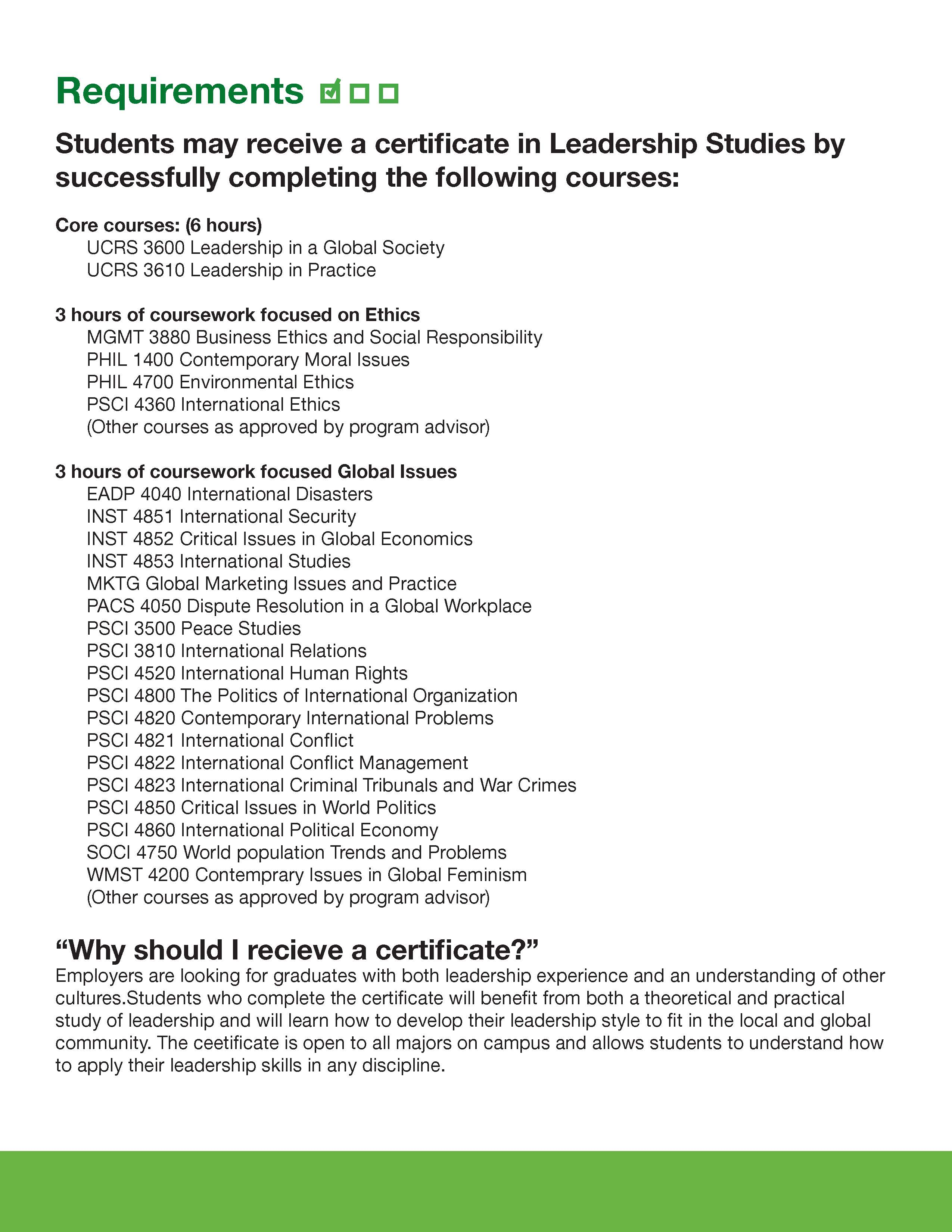 Leadership certificate series division of student affairs for more information about the academic leadership courses contact 940 565 3021 1betcityfo Image collections