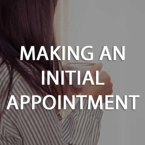 Making an Initial Appointment Button