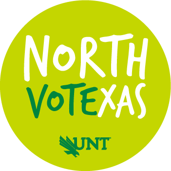 north vote texas on lime green circle logo