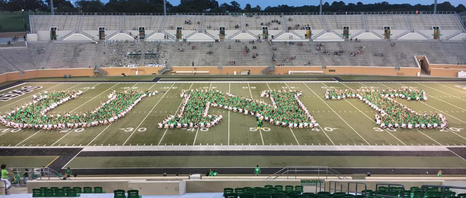 UNT Spelled By Students On Football Field