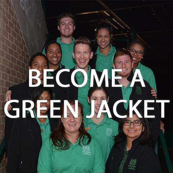 Group of people of Green jackets
