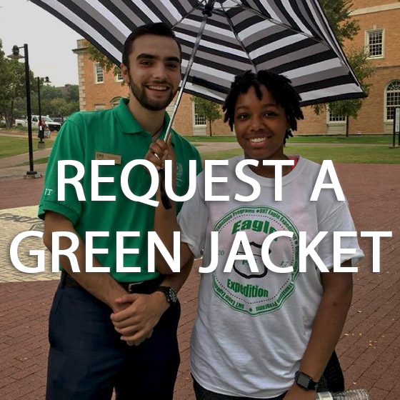 Green jackets helping people