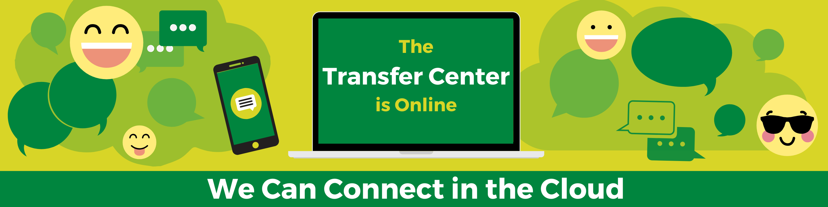 Slide 3: The Transfer Center is online. We can connect in the cloud.