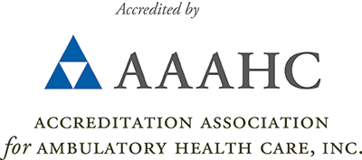 Accredited by AAAHC logo