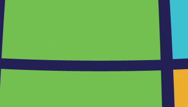 graphic with pink, baby blue, green, and orange blocks with navy blue lines going across and up and down