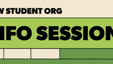"""Abstract graphic with the words """"New Student Info Session"""""""