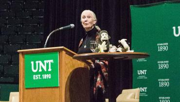 Dr. Jane Goodall at UNT