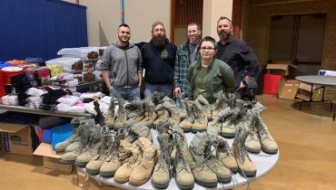 UNT Volunteers for Homeless Veterans Stand Down