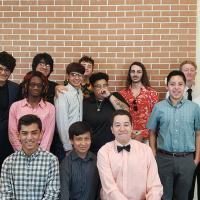 Smiling Students Dressed Formally