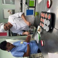 Alan Martinez, GISD student, learns how to prepare a healthy meal at the Young Chef Academy.
