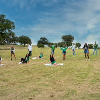 North Texas COED team tailgating on game day