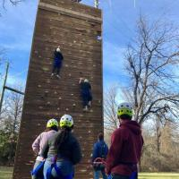 Talent Search Class Reps from Ryan and Denton High Schools learn to overcome obstacles at Teambuilding & Leadership Retreat