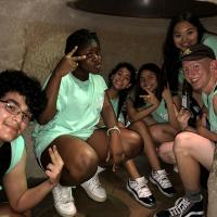 Students In A Cave