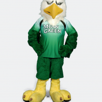 Scrappy in mean green jersey with hands on his hips