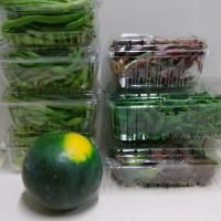 stack of produce to donate