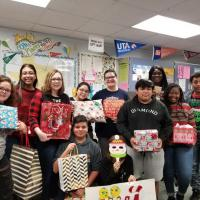Denton High School Student Adopt and Angel during Christmas