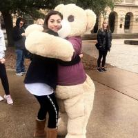"""Ryan student feeling """"BEARY"""" welcomed at the Talent Search - A&M College Station- Preview Day Field Trip!"""