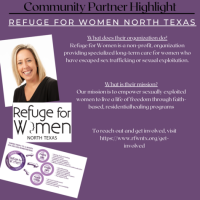 Information about Refuge for Women North Texas from Abby Germer, executive director