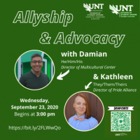 S.N.A.P. Chats: Allyship and Advocacy poster