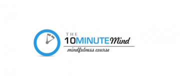 10 Minute Mind mindfulness course with clock