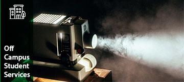 Movie projector for family movie night