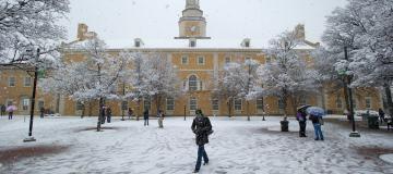 University of North Texas Snow Day