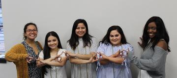 Greek Life Students Smiling Together