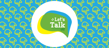 Let's Talk logo with word bubble