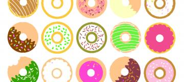 Multi Colored Donuts