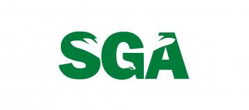 SGA Logo in green type