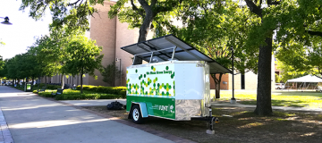 WMGF solar trailer on campus