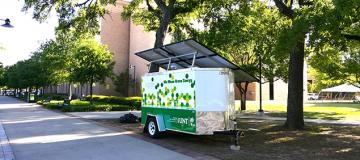 WMGF solar trailer on campus