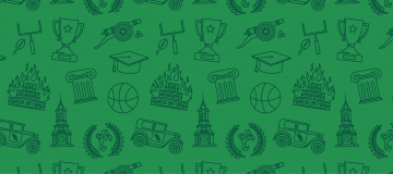 Green background with icons of different activities