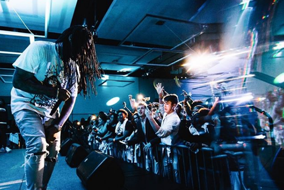 image of waka flaka performing on stage in the emerald ballroom