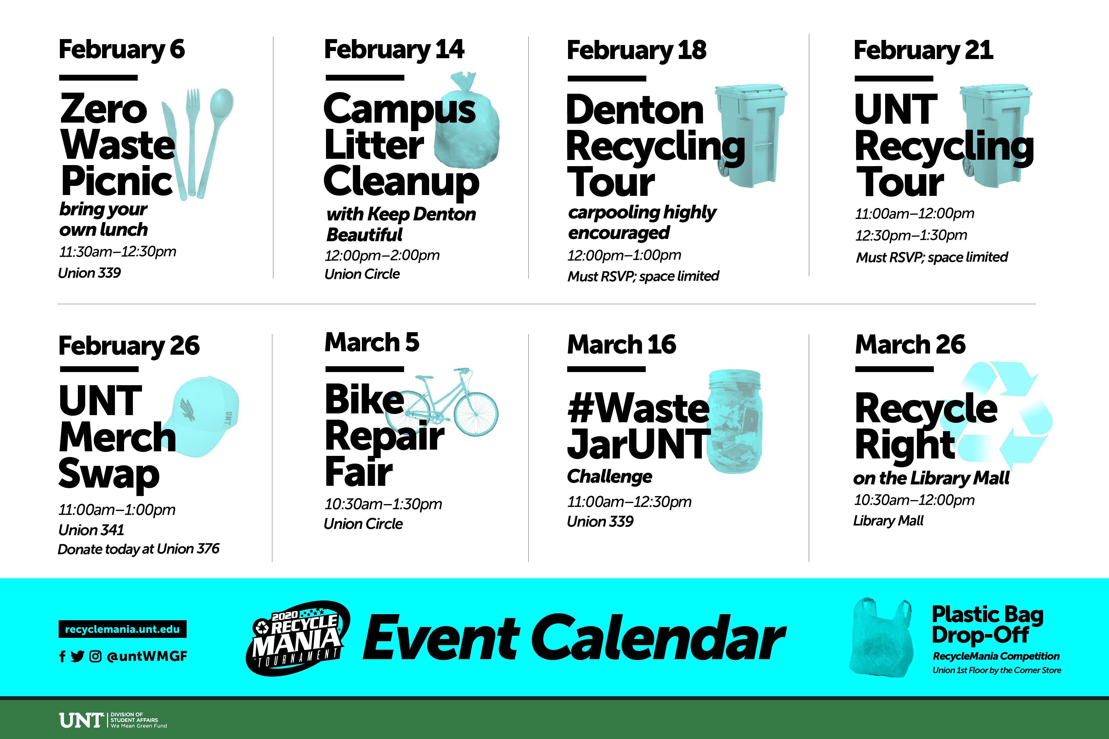calendar of recycling events